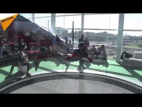 صوت الإمارات - شاهد افتتاح أكبر أنبوب عديم الجاذبية في ميلان