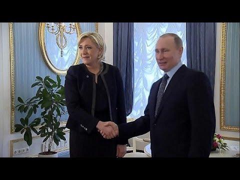 صوت الإمارات - بالفيديو الرئيس بوتين يلتقي بمارين لوبان زعيمة الجبهة الوطنية