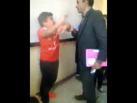 صوت الإمارات - لحظة اعتداء مدرس في المعادي على تلميذ