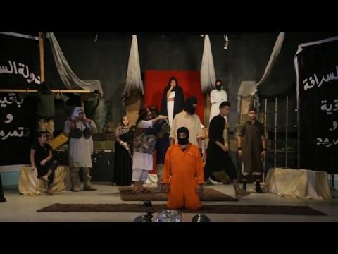 صوت الإمارات - شاهد دولة السرافة تجسّد حقيقة وحشية داعش من خلال المسرح