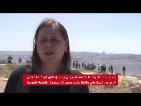 صوت الإمارات - بالفيديو عشرات الإصابات بين المتضامنين مع الأسرى في الضفة الغربية