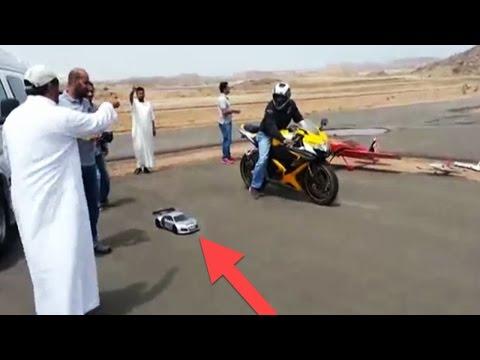 صوت الإمارات - شاهد أقوى سباقات بين سيارات ريموت كنترول مقابل دراجات ناري