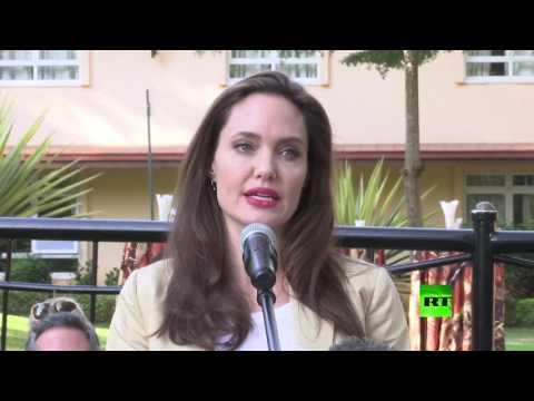 صوت الإمارات - أنجيلينا جولي في كينيا للاحتفال باليوم العالمي للاجئين