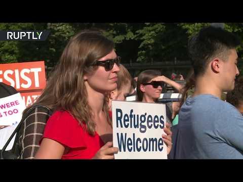 صوت الإمارات - شاهد الأميركيون يرحبون باللاجئين من أنحار العالم كافة