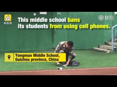 صوت الإمارات - مدرسة صينية تحطم هواتف الطلاب لتلقينهم درسا قاسيا