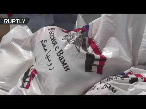 صوت الإمارات - شاهد وصول أول قافلة من المساعدات إلى الغوطة الشرقية