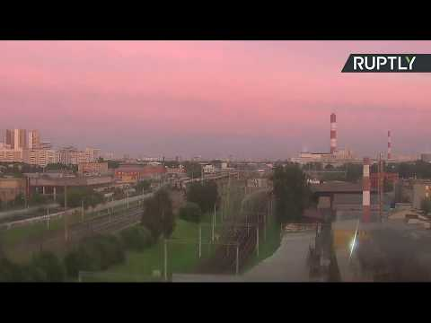 صوت الإمارات - مقاطع جديدة لخسوف جزئي للقمر في سماء موسكو