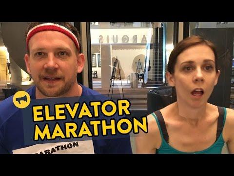 صوت الإمارات - شاهد ماراثون جري في المصعد