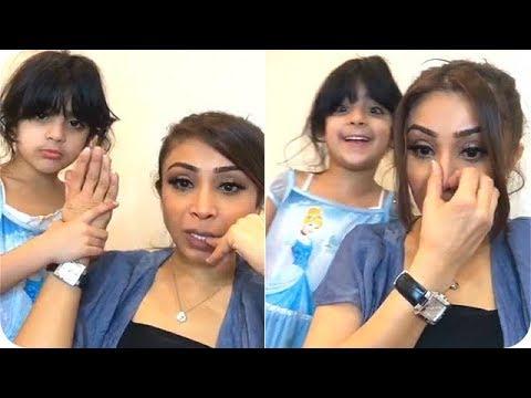 صوت الإمارات - شاهد خفة دم أبرار الكويتية وابنتها آية أثناء البث المباشر