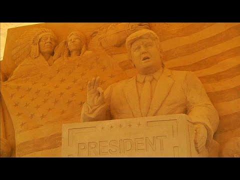صوت الإمارات - شاهد تماثيل رملية لرموز أميركية في متحف الرمال