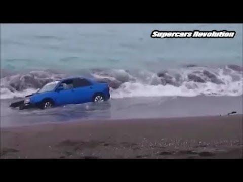 صوت الإمارات - حوادث متنوعة لغرق سيارات يتسبب بها سائقين أغبياء