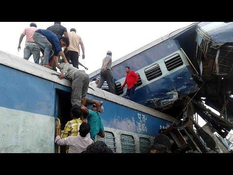 صوت الإمارات - بالفيديو خروج قطار هندي عن مساره