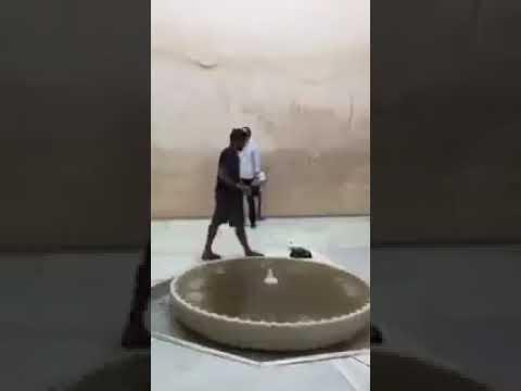 صوت الإمارات - لحظة رفع سائح أميركي للأذان في قصر الحمراء في إسبانيا