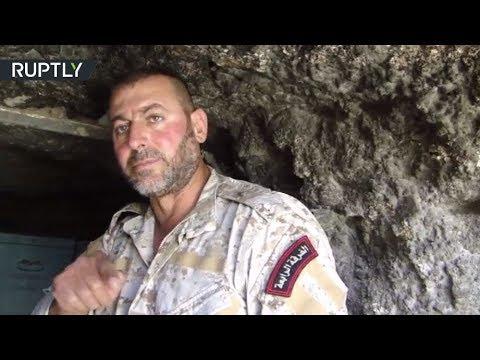 صوت الإمارات - شاهد عناصر من الفرقة الرابعة في الجيش السوري تكشف مخازن داعش في عقيربات