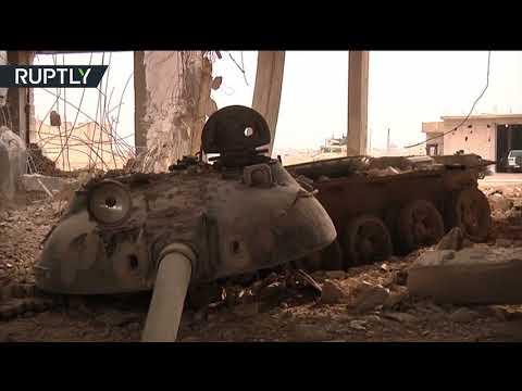 صوت الإمارات - شاهد ضبط مصنع دبابات لتنظيم داعش في بلدة عقيربات