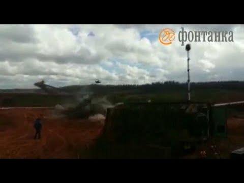 صوت الإمارات - شاهد إصابة رجل خلال تدريبات عسكرية غرب روسيا