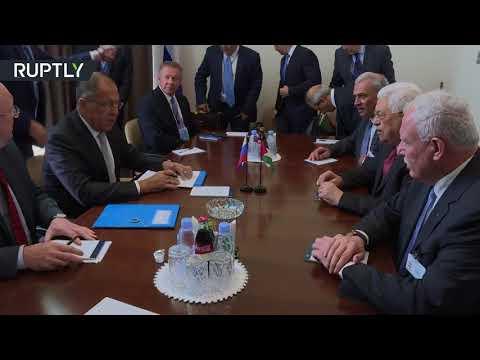 صوت الإمارات - شاهد سيرغي لافروف يلتقي محمود عباس في نيويورك