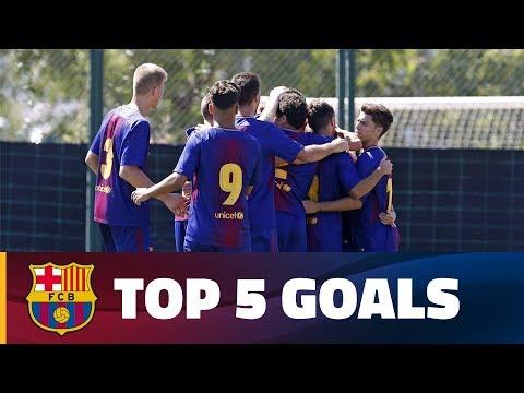 صوت الإمارات - شاهد أفضل 5 أهداف لشباب أكاديمية برشلونة الماسية