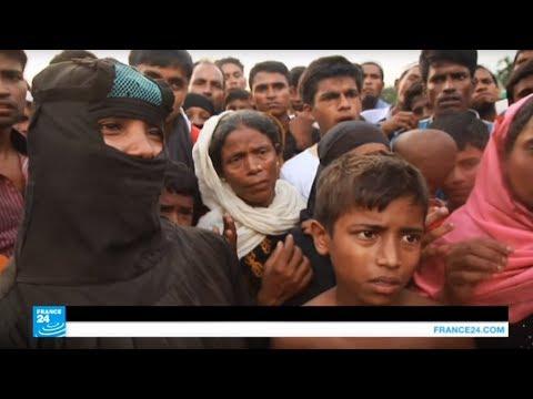 صوت الإمارات - شاهد لاجئو الروهينغا بانتظار المساعدات في مخيمات ببنغلادش