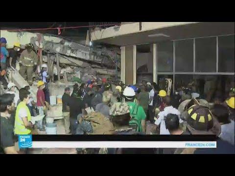 صوت الإمارات - شاهد فرق الإنقاذ تحاول البحث عن مفقودين جراء زلزال المكسيك