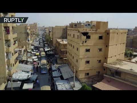 صوت الإمارات - شاهد لحظة وصول المساعدات الإنسانية من إيران إلى دير الزور