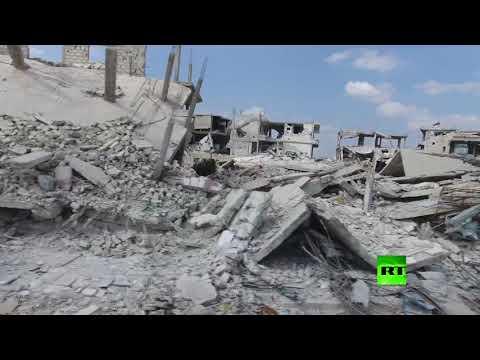صوت الإمارات - شاهد طائرة من دون طيار توثق دمارًا هائلًا شهدته مدينة درعا السورية