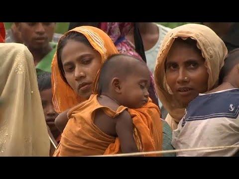 صوت الإمارات - شاهد لاجئو الروهينغا ينتظرون معونات الإغاثة في بنغلادش