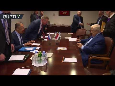 صوت الإمارات - شاهد لقاء بين وزيري الخارجية الروسي سيرغي لافروف والسوري وليد المعلم