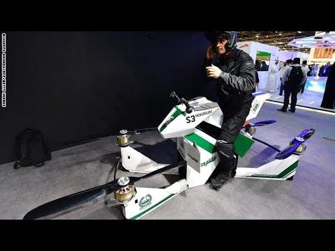 صوت الإمارات - شاهد ابتكار دراجة طائرة لتجنب الازدحام المروري