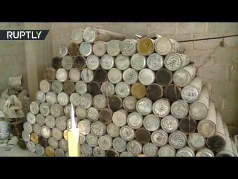 صوت الإمارات - شاهد الجيش السوري يعثر على كدس كبير للعتاد في الميادين