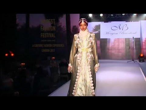 صوت الإمارات - شاهد عرض أزياء للموضة المحتشمة في لندن