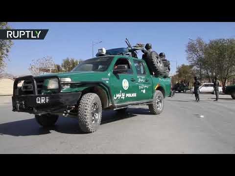 شاهد تفجير يستهدف محطة تلفزيونية خاصة في كابل