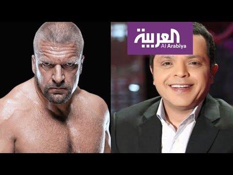 شاهد مزحة الممثل المصري هنيدي توصله إلى حلبة المصارعة