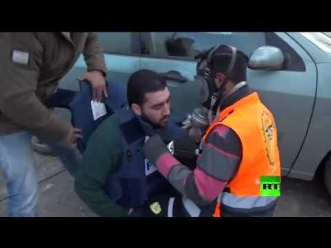شاهد إصابة أحد أفراد طاقم rt خلال مواجهات في رام الله