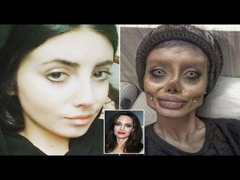 شاهد أنجلينا جولي الإيرانية تكشف حقيقة وجهها المخيف