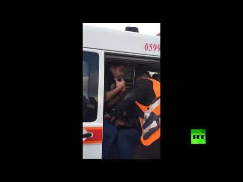 بالفيديو مشاهد جديدة لطاقم rt المصاب خلال مواجهات رام الله