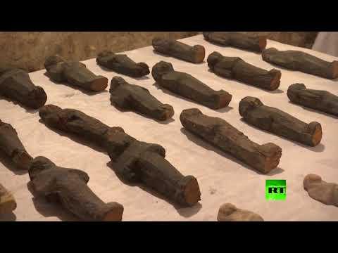 شاهد اكتشاف مقبرتين أثريتين في الأقصر في مصر