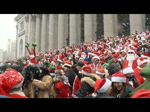 شاهد سانتا كلوز يغزو شوارع لندن