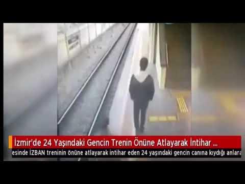 شاهد شاب يتحدى قطارا بالقفز أمامه