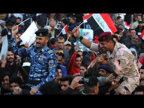 شاهد عرض عسكري في بغداد للاحتفال بالنصر على تنظيم داعش