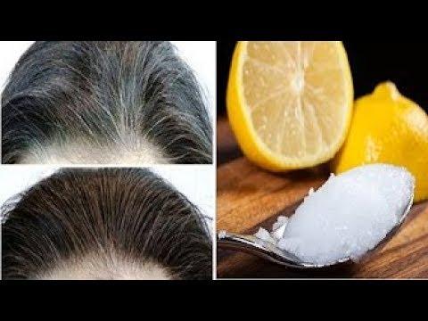 شاهد خليط من الليمون و زيت جوز الهند يعيد الشعر الابيض إلى لونه الطبيعي