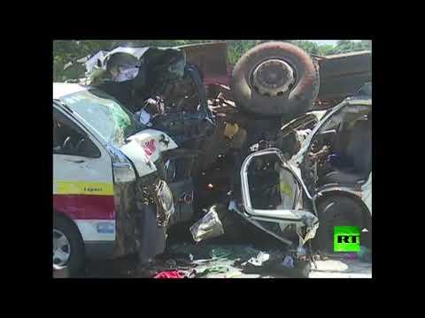 شاهد حادث مروري مروّع في أحد شوارع كينيا