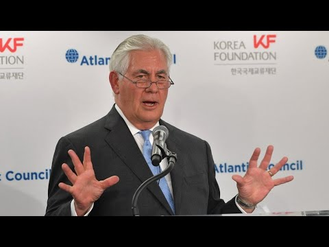 شاهد  تيلرسون يؤكّد أنّ الولايات المتحدة مستعدة لمحادثات مع كوريا الشمالية