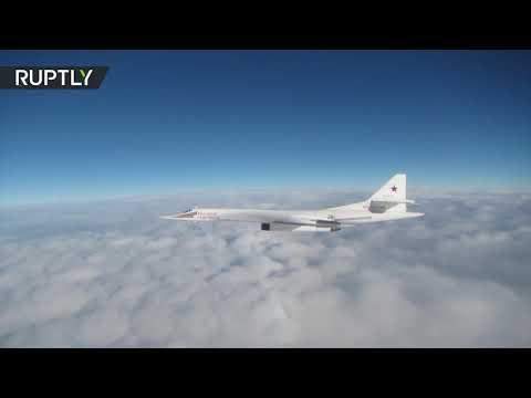 شاهد مقاتلات بلجيكية وبريطانية ترافق قاذفات روسية