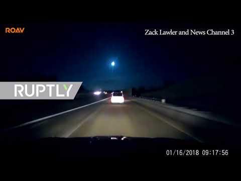 شاهد سقوط نيزك في ميتشيغان الأميركية يسبب زلزالًا