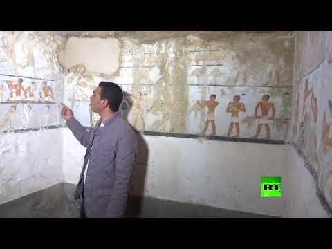 شاهد اكتشاف مقبرة جديدة قرب الاهرامات تعود إلى 4400 عام