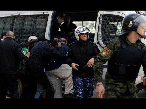 بالفيديو رشق وفد أميركي بالبيض في رام الله