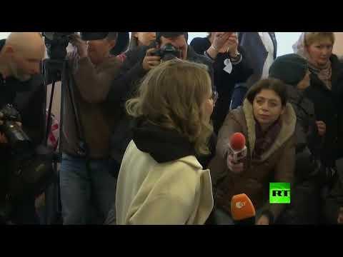 كسينيا سوبتشاك تدلي بصوتها في الانتخابات الروسية