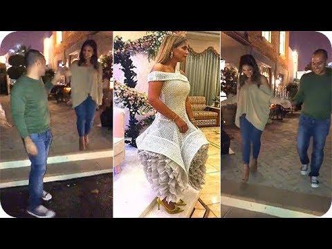 بيبي عبد المحسن وخطيبها يتدربتن على الزفّة