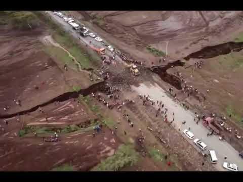 شاهد زلزال شرقؤ المدمر يقسم القارة السمراء لنصفين
